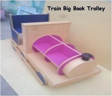Train Big Book Trolley